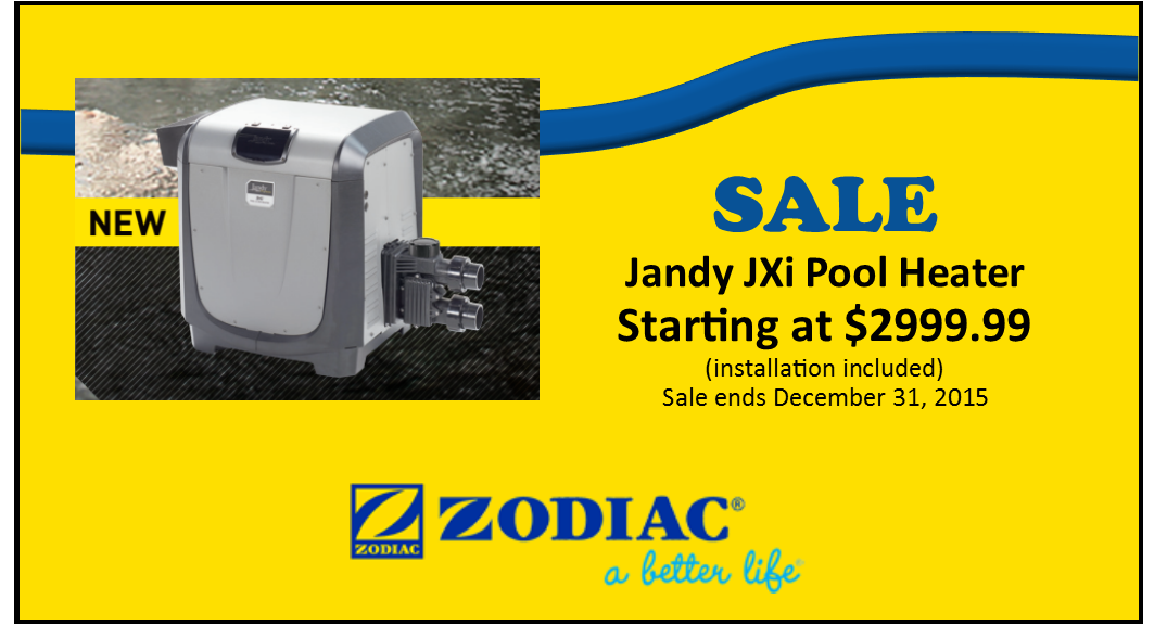 NEW Jandy JXi Pool Heater
