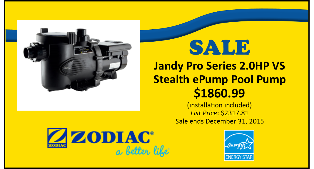 Jandy Pro Series Energy Star Rated Variable Speed Pool Pump